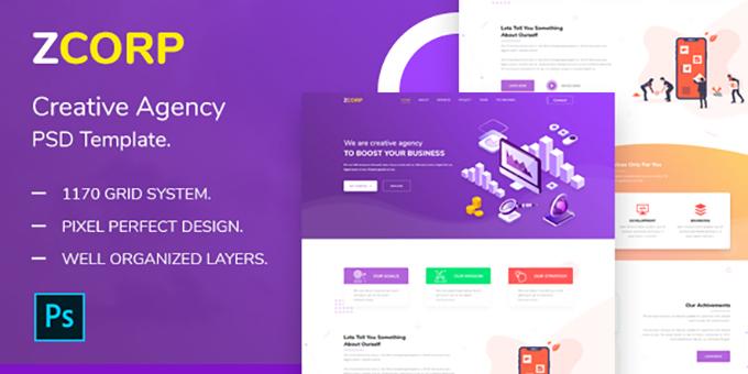ZCorp - Creative Agency PSD Template