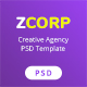 ZCorp - Creative Agency PSD Template