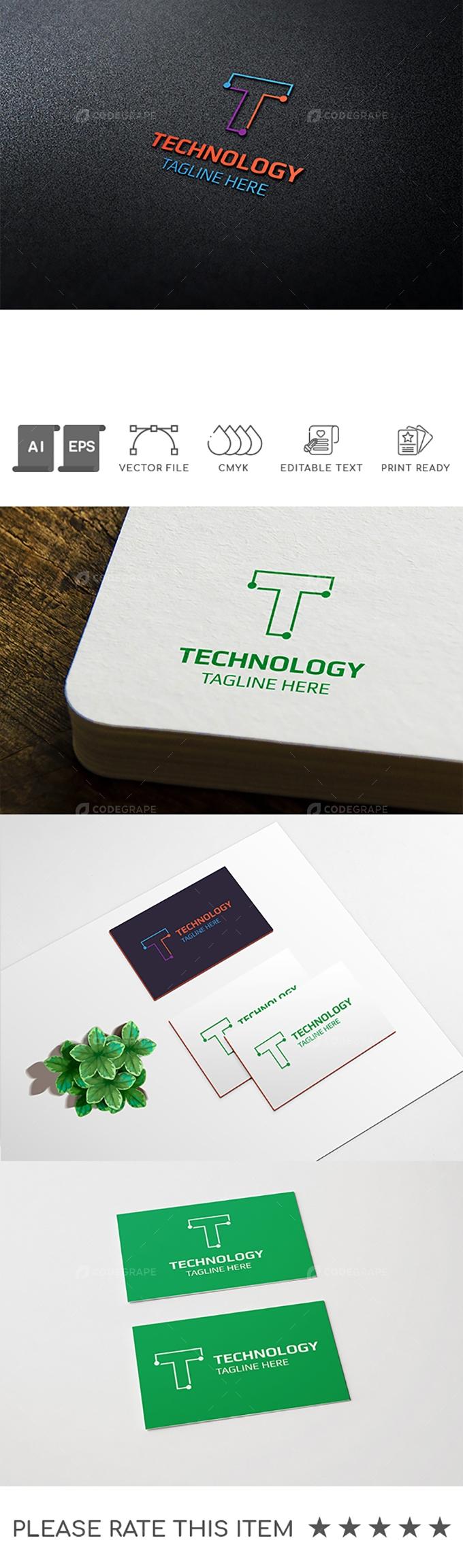 Technology T Letter Logo