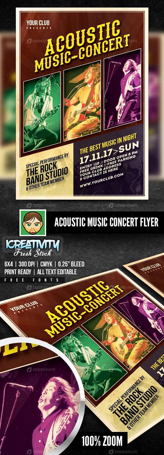 Acoustic Music Concert Flyer