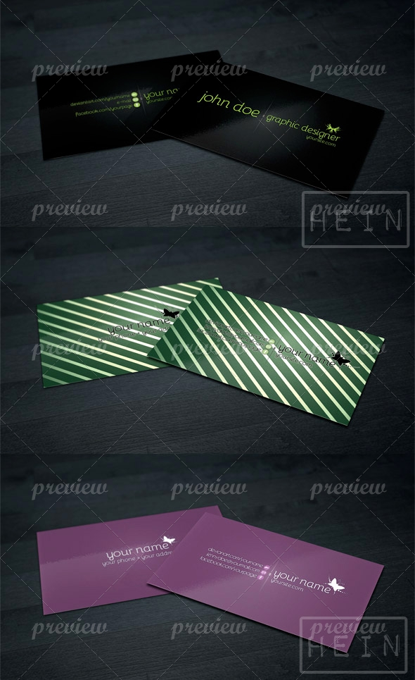 Business Card Pack - 3 Styles