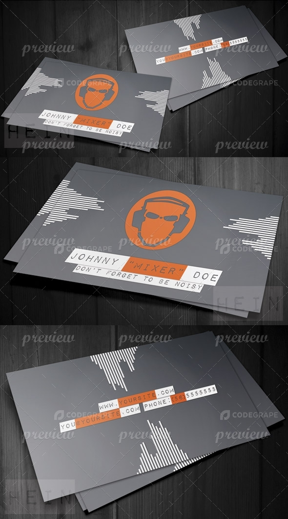 DJ Futurist Business Card