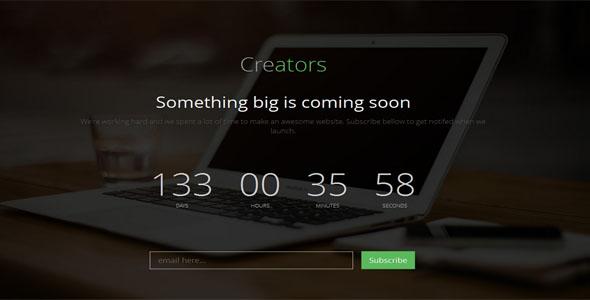 Creators Coming Soon Template