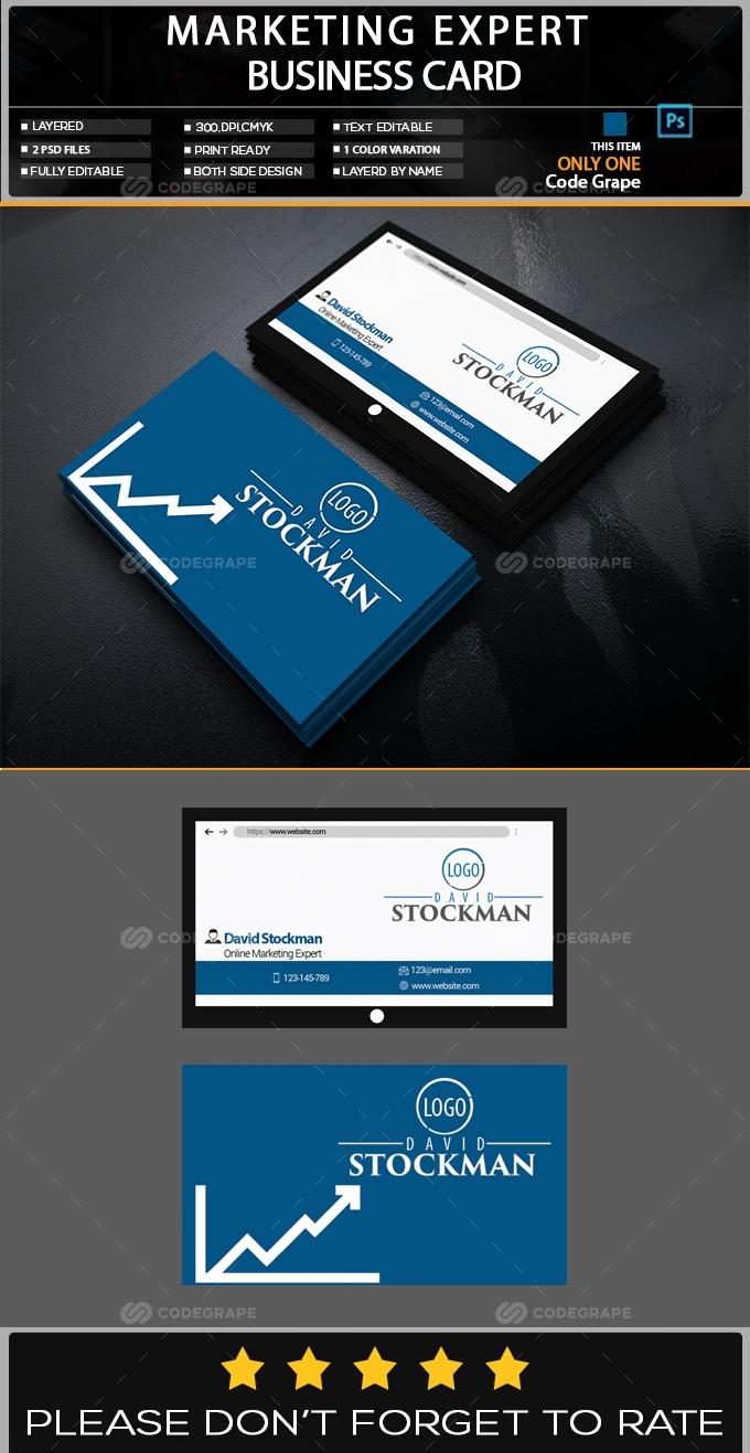 Marketing Expert Business Card