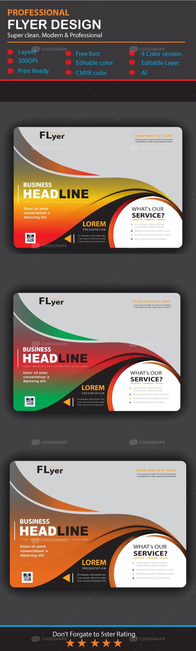 Clean Flyer Design Template