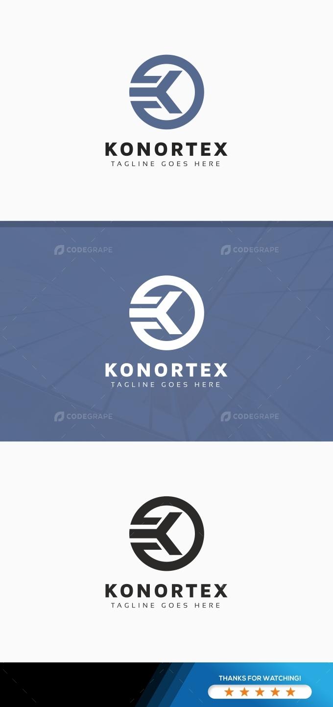 Konortex K Letter Logo