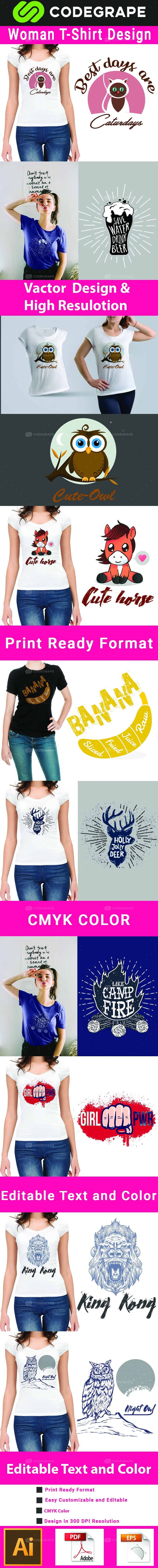 Woman T-shirt Design