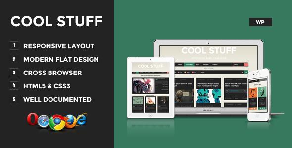 Cool Stuff - WordPress Responsive Blog/Magazine