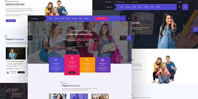 Learners Education PSD Template