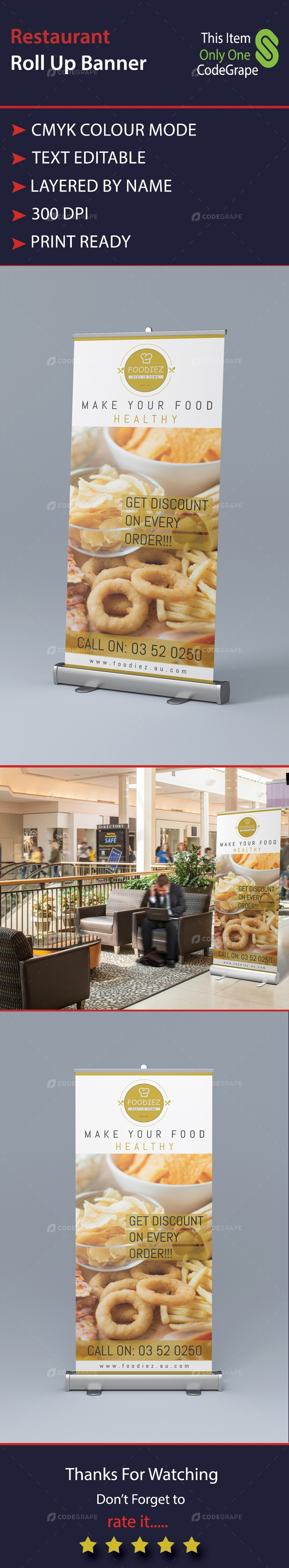 Restaurant Roll-up Banner