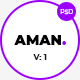 Aman One Page PSD Template