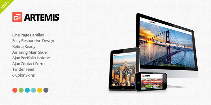 Artemis Responsive One Page Parallax Template
