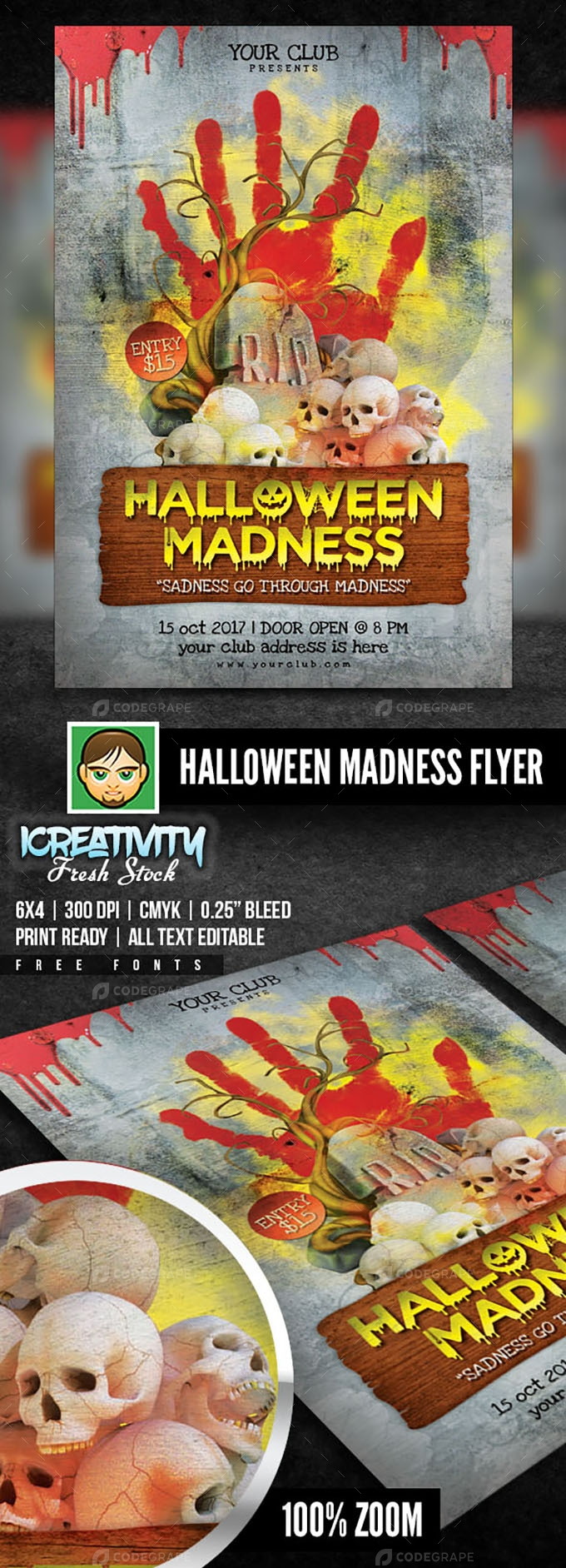Halloween Party Night Flyer