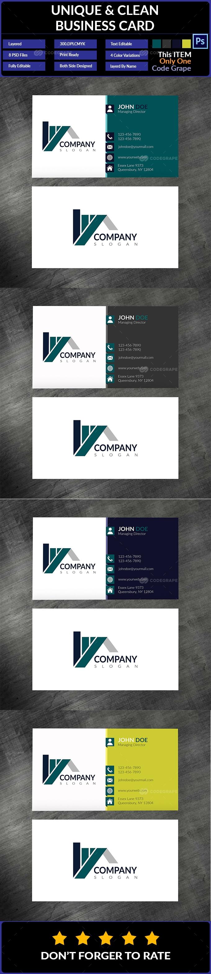 Unique & Clean Business Card