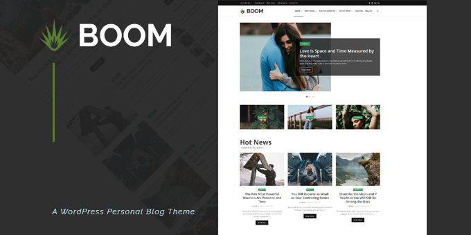 Boom - Creative Blog WordPress Theme