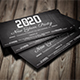 2020 New Years Party Voucher Card