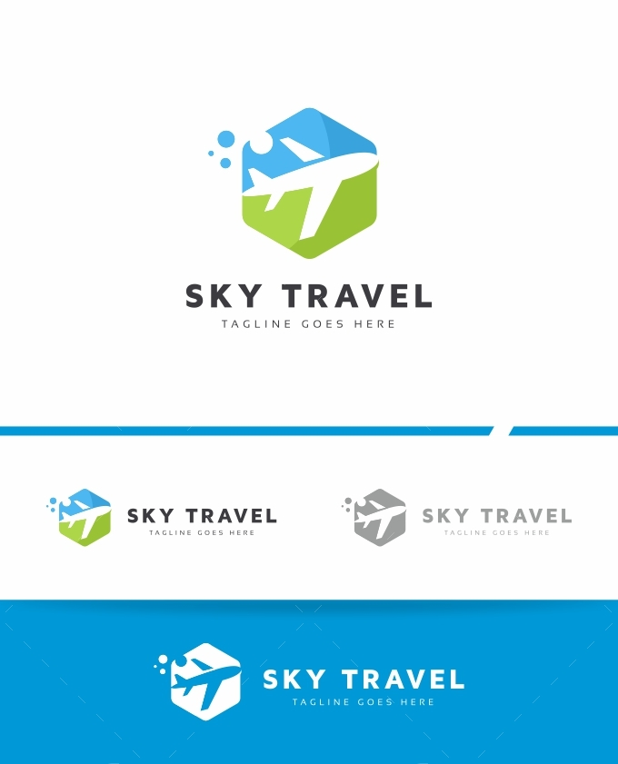 Sky Travel Logo