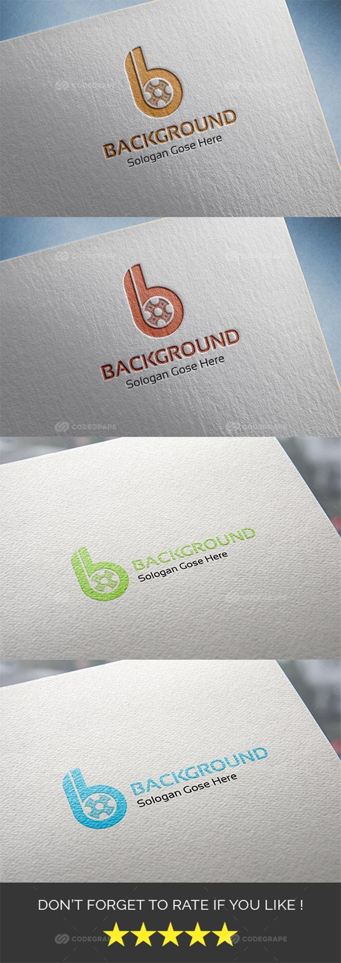 Background B Letter logo