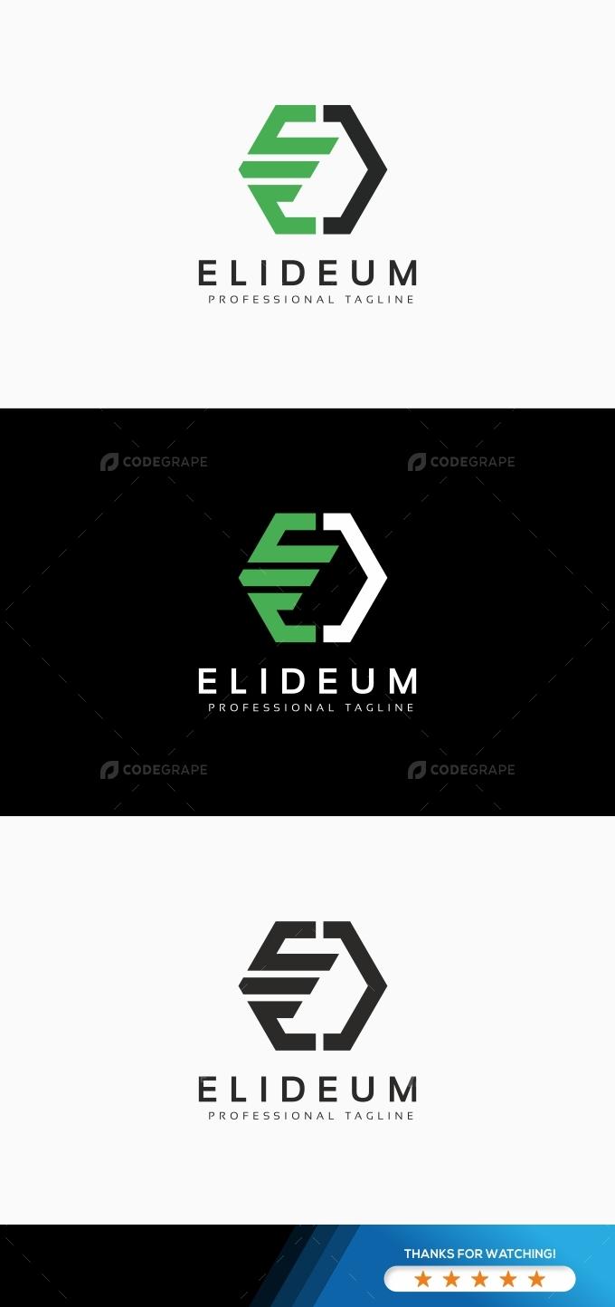 Elideum E Letter Logo