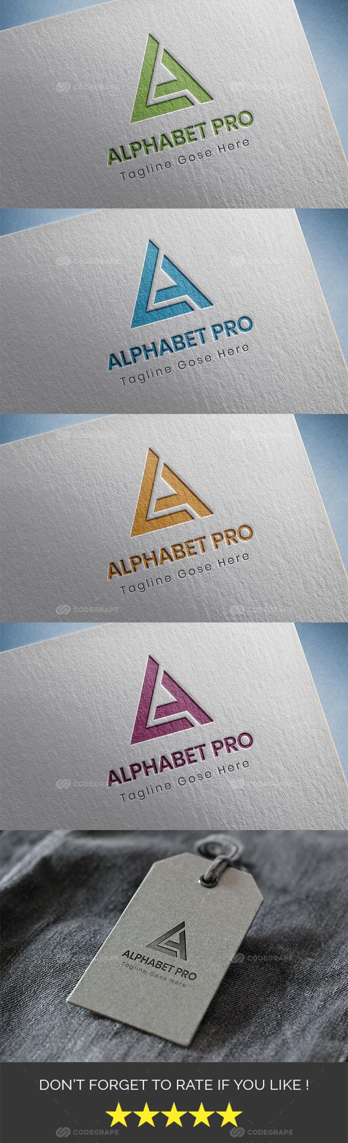 Alphabet Pro (A Letter Logo)