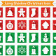 Long Shadow Christmas Icon