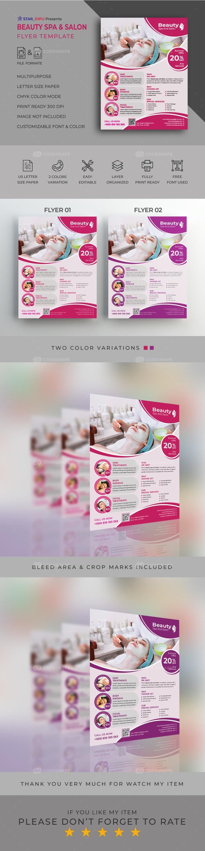 Beauty Spa & Salon Flyer Template