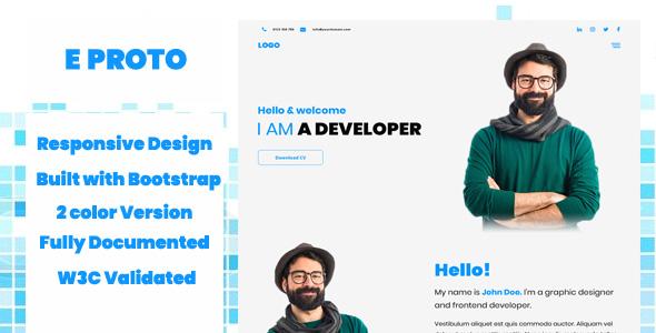 eProto - Portfolio Landing HTML One Page Template