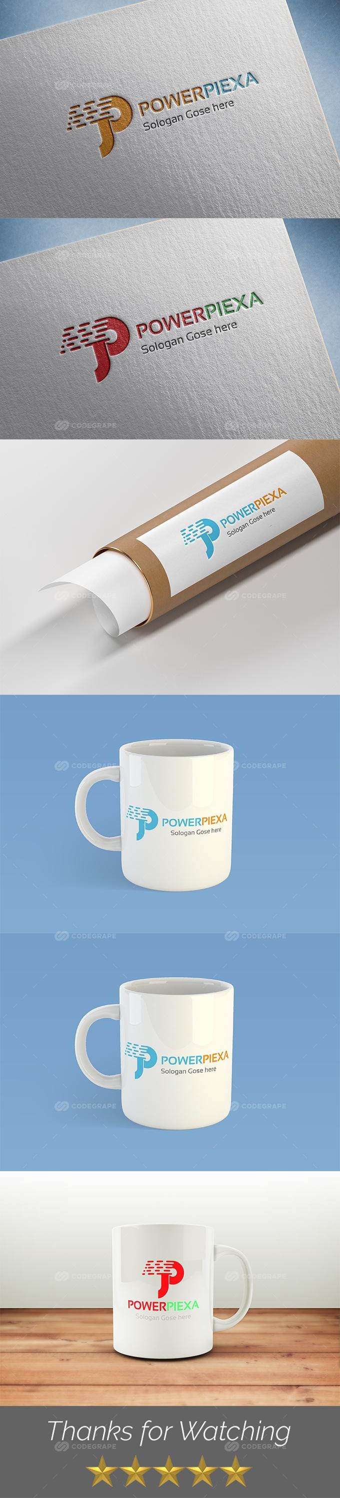 PowerPiexa (P Letter) Logo