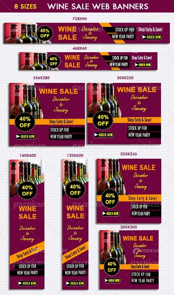 Wine Sale Web Banners