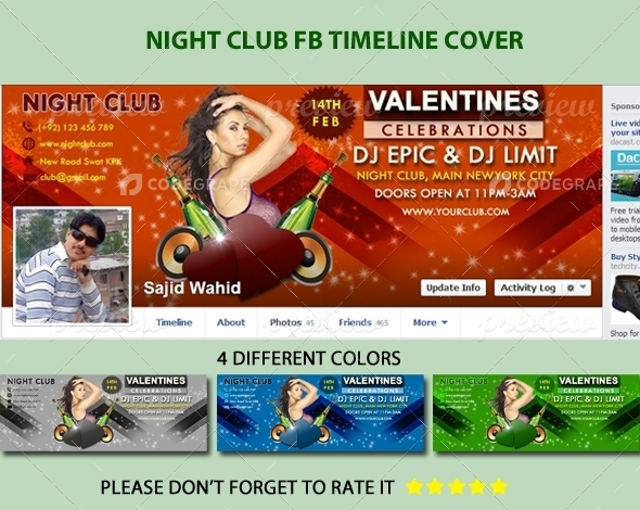 Night Club FB Timeline Cover