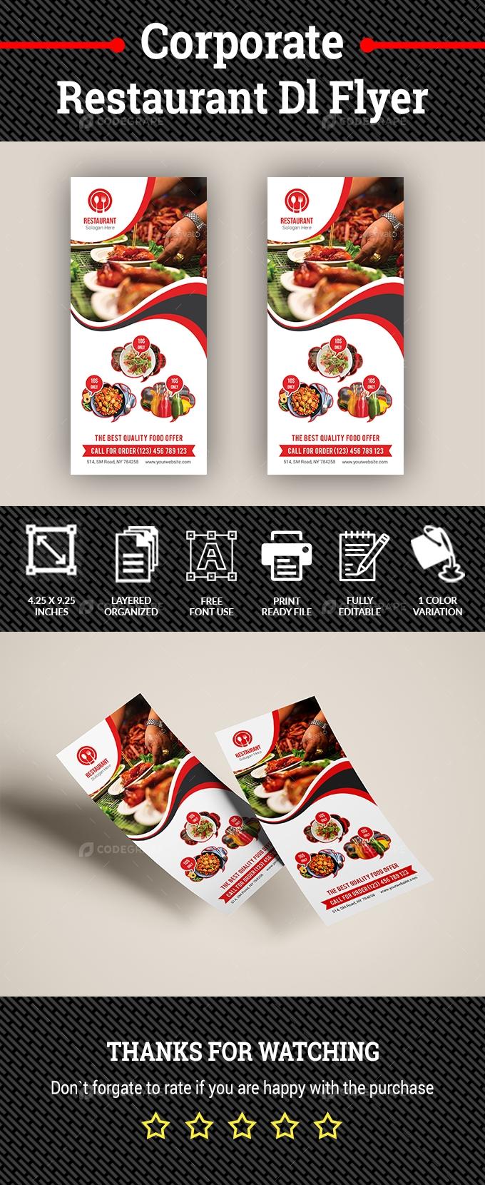 Corporate Restaurant Dl Flyer