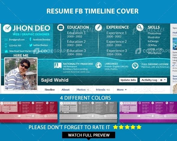 Resume Facebook Timeline Cover