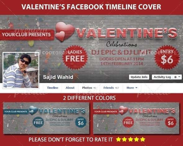 Valentine's Facebook Timeline