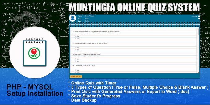 Munitingia PHP Online Quiz System with Timer