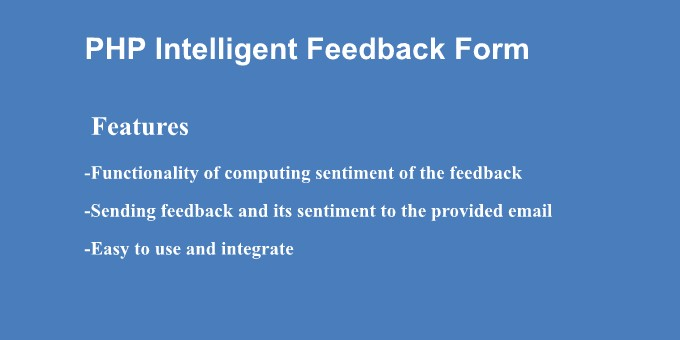 PHP Intelligent Feedback Form