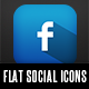 Flat Social Network Icons
