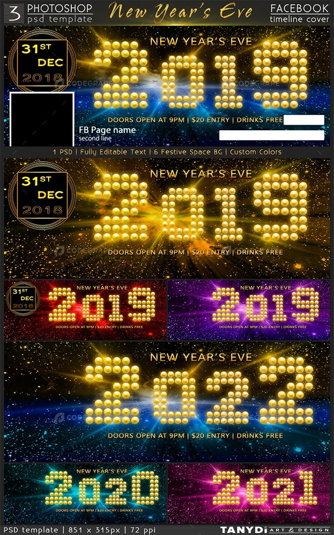 New Year S Eve Party Fb Timeline Cover Graphics