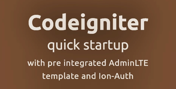 Codeigniter Quick Starter with AdminLte