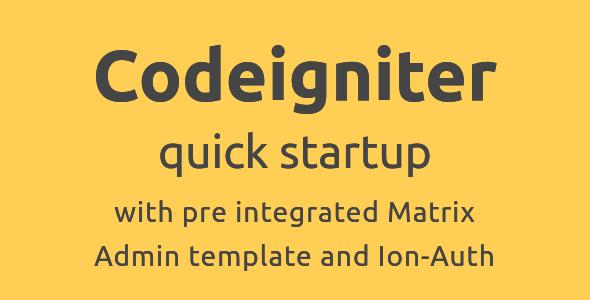 Codeigniter Qucik Startup with Admin Materix