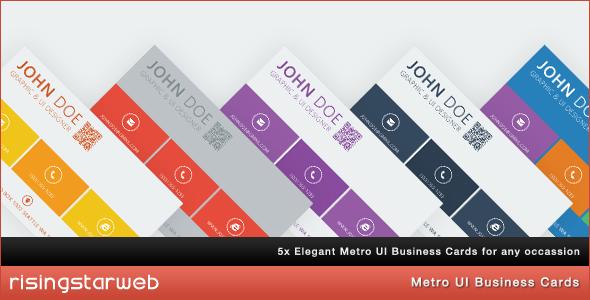 Metro UI Business Card x5