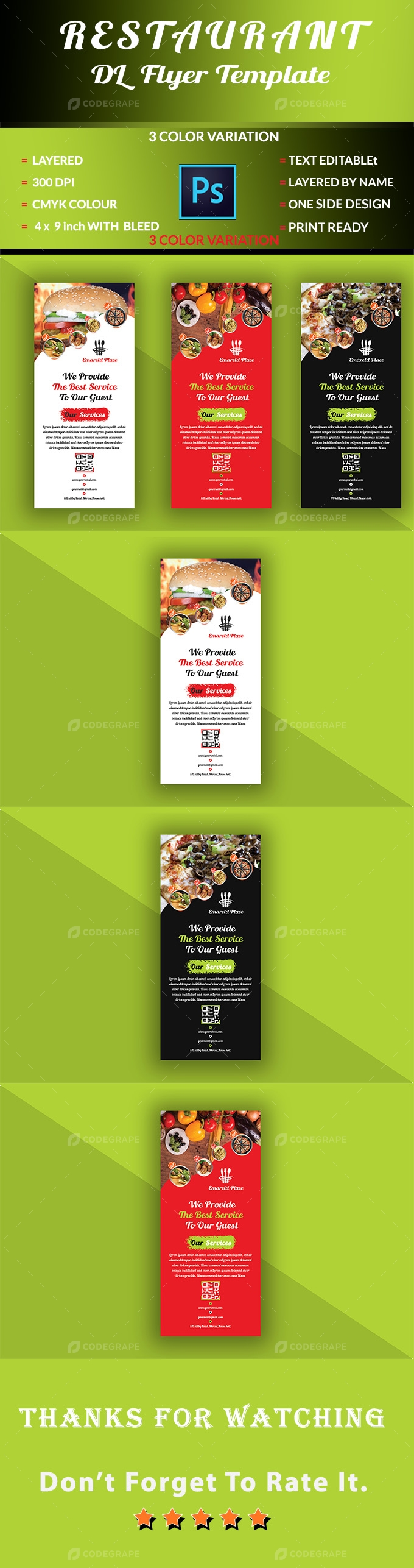 Restaurant DL Flyer Template