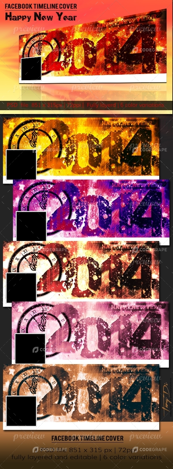 Vintage New Year | FB Timeline Cover