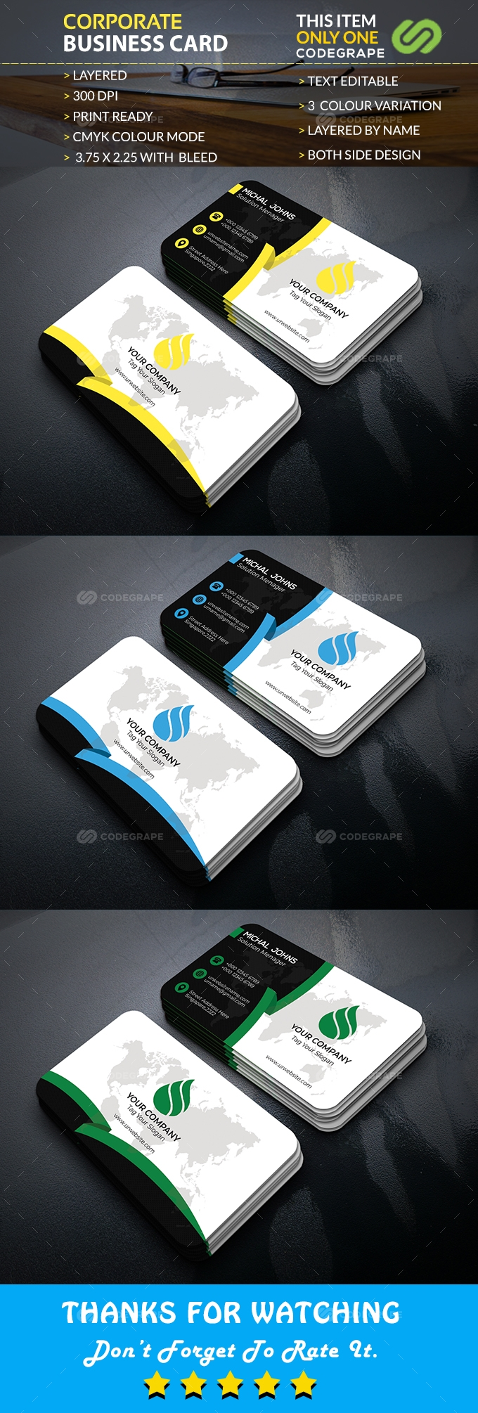 Modern Business Card Vol. 08