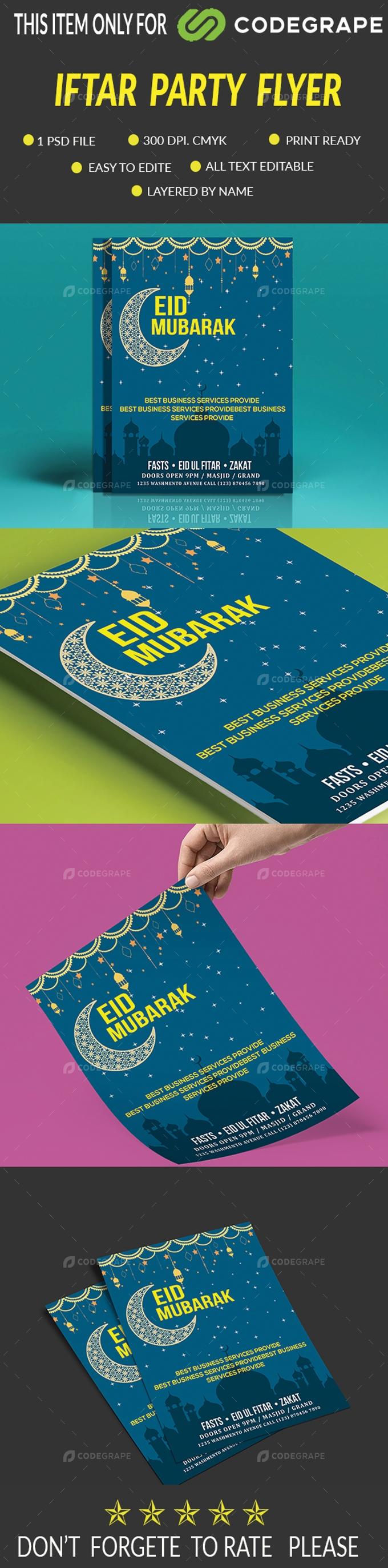 Eid Mobarak Flyer