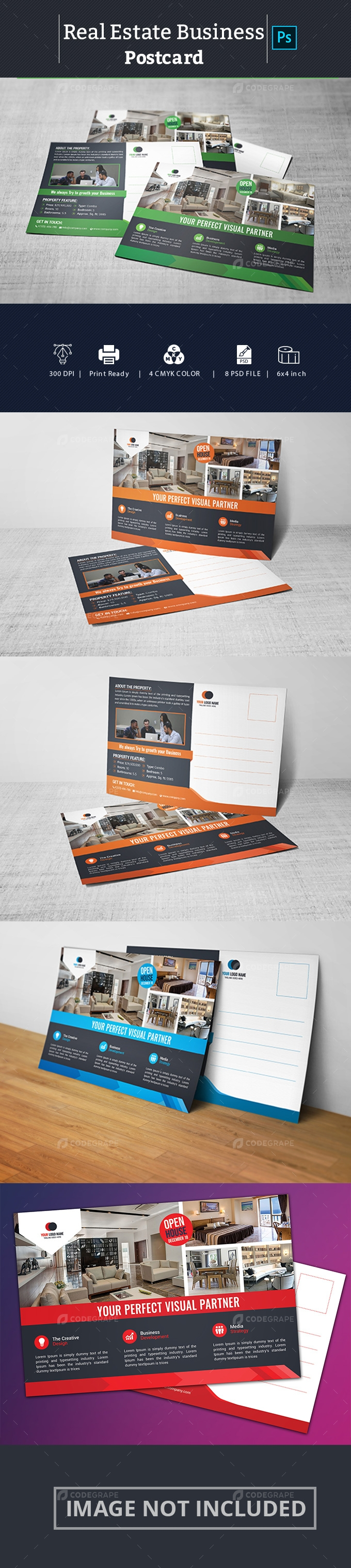 Real Estate Business Postcard