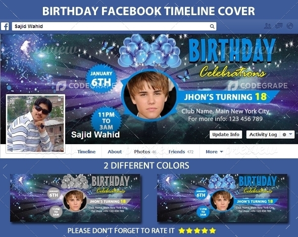 Birthday Facebook Timeline Cover