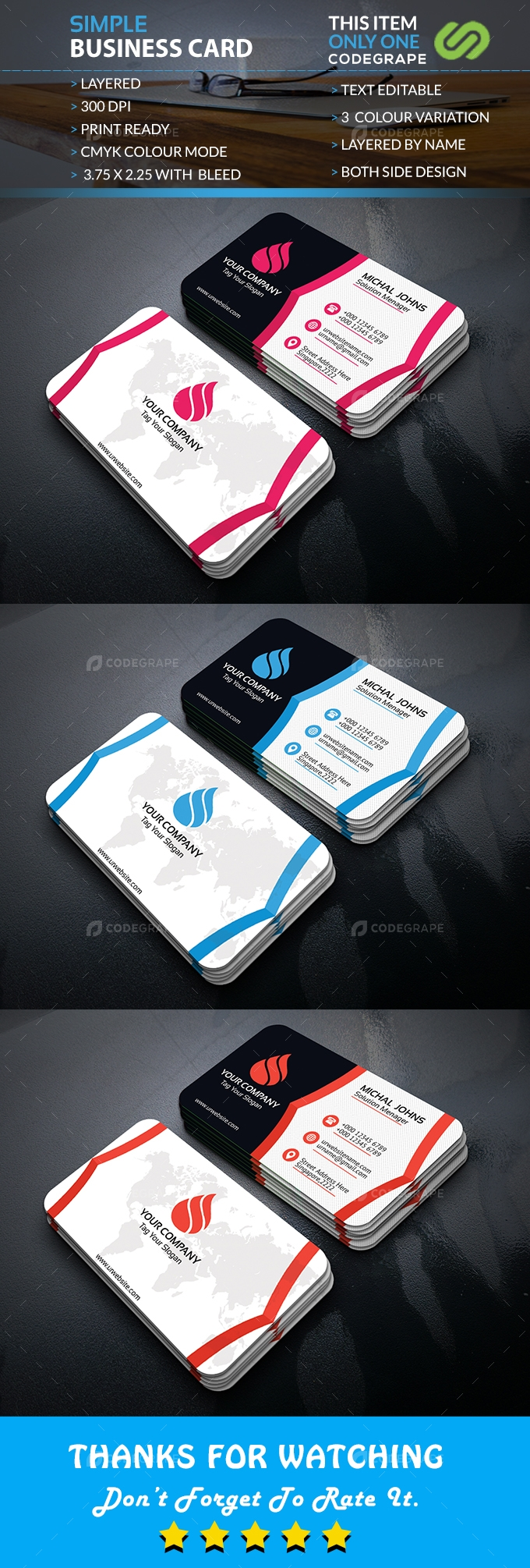 Simple Business Card Vol. 09