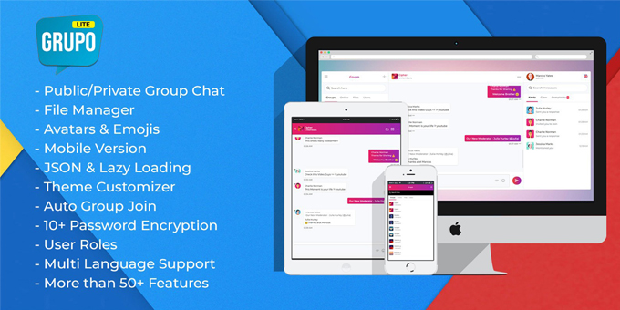 Grupo - JSON & AJAX Based PHP Chatroom Script