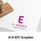 E-books (E) Letter Logo