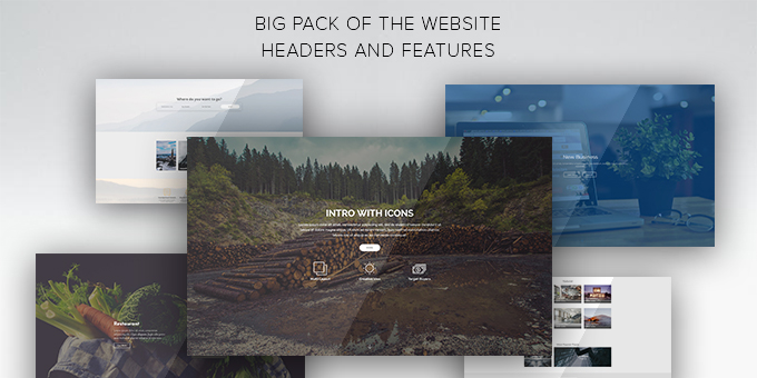 Big Pack of Website Headers and Features